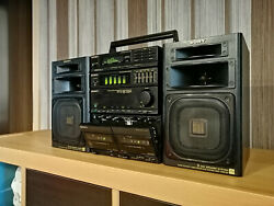 Sony Fh-808r + Sony Apm 404 Hifi System 1988 Ghettoblaster Boombox Excellent