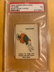 1924 Parker Brothers Rook Game Cards Ty Cobb Psa 7 Nm-mt