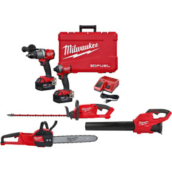 Milwaukee Hammer Drill/impact Driver Combo Kit 18v Lithium-ion Variable Speed