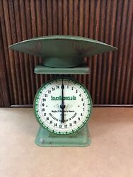 Vintage Green Sears Roebuck And Co. 1906 Model Kitchen Farm Scale With Scope 25 Lb
