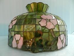 Vtgtiffany/ Or Stained/slag/favrile Glass Floral Hanging Light Fixture Lamp