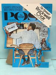 """Advertising Sign For The """"rockwell Chair"""" By Plycraft Nos"""