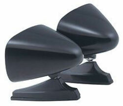 Nosvintage Classic Black Dual Twin Sport Bullet Shape Hot Rod Side Mirrors
