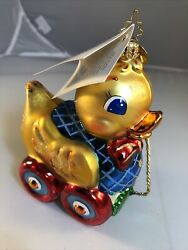 Christopher Radko Waddles The Duck Ornament Magee Womans Hospital Neo Natal Flaw