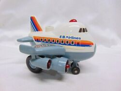 Vintage Eb Airlines Plastic Battery Powered Toy Airplane