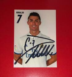 Cristiano Ronaldo Hand Signed Real Madrid Official Card Autograph