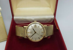 Vintage Solid 9ct Gold Omega De Ville Champagne Dial Auto Watch 58.5g Boxandpapers