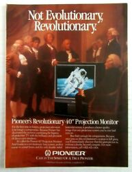 1987 PIONEER ELECTRONICS 40quot; Projection Monitor TV Magazine Ad
