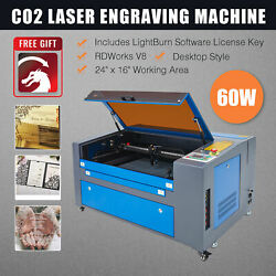 Omtech 60w 24x16 Inch Co2 Laser Engraver Cutter Engraving Machine With Lightburn
