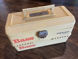 Old Pal Woodstream Bass Boss Model 6500 Fishing Tackle Box W/trays And Extras