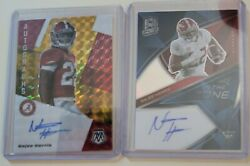 Najee Harris Rc In The Zone Auto 7/9, Autographs Gold/red Auto 9/10