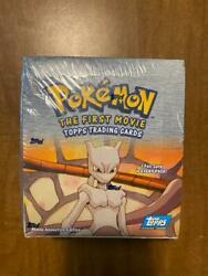 Factory Sealed 1997-98 Topps Pokemon The First Movie Box 36 Packs Blue Logo Wow