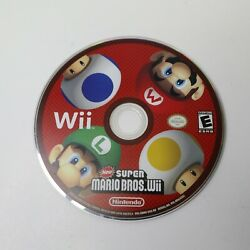Wii New Super Mario Bros Video Game Disc Only 2009