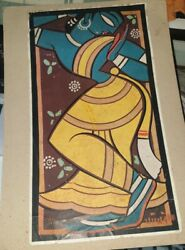6 Old Vintage Paper Prints Of Differents Painters Paintings From India 1960