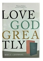 Thomas Nelson Net Love God Greatly Bible 2020 Pink Hard Cover 9.5 Font Size