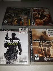Lot Of 4 Original Ps3 Fps Games Mw2 Mw3 Starhawk R6 +more Video Game Bundle1a