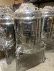 304 Stainless Steel Jacketed 150l Reactor Asme Certified With Tri Clamp Fittings