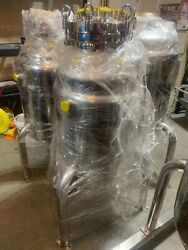 304 Stainless Steel Jacketed 150l Reactor Asme Certified With Manway Lid, Usa