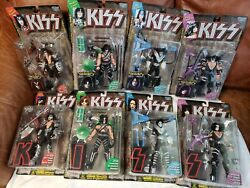 Kiss Ultra Action Figures Mcfarlane 1997 2 Complete Sets Of 4 Letters/records