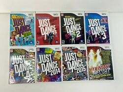 Wii Just Dance 1 2 3 4 2014 2015 Kids Country Music 8 Game Lot Complete