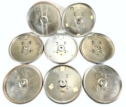 Vintage 10 Simplex Wall Clock Metal Frame Brushed Stainless Lot Of 8 Have Rust
