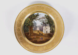 Sevres Porcelain Naples Decorated Cipolla Topographical Plate Circa 1830