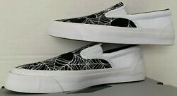 Converse One Star Cc Slip Mens Size 10.5-13 170941c White/black Webs And Spiders