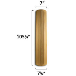 Osborne Wood Products Inc. 16058a 105 1/4 X 7 1/2 Fluted Column In Alder