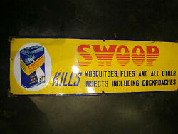 Vintage Swoop Insecticide Kill Masquitoes And Cockroaches Porcelaine Andeacutemail Signe