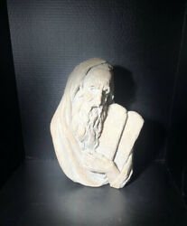 Moses Sculpture By Bergier 1967 - Jewish Sculpture