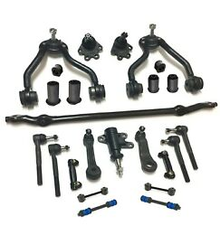 24 New Pc Control Arms Sway Bar Tie Rod Ends Center Link Kit For Chevrolet Gmc