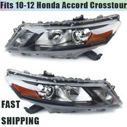 Headlight Set For 2010-2011 Honda Accord Crosstour 2012 Left And Right Side Pair