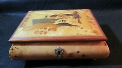Vintage Reuge Italian Jewelry/ Music Box- Made In Sorrento