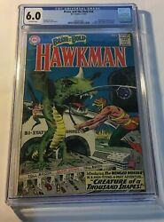Brave And The Bold 34 Dc Comics Cgc Fn 6.0 1st Appearance Of Hawkman 1961.