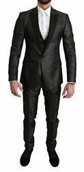 Dolce And Gabbana Suit Men's Gray Single Breasted 3 Piece Martini It46/us36/s