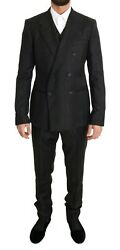 Dolce And Gabbana Suit Men's Brown Wool Double Breasted Slim Fit It48/us38/m