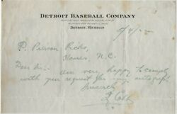 1922 Ty Cobb Signed Autograph Note Jsa Cert. Playing Days, Hit .401 That Year