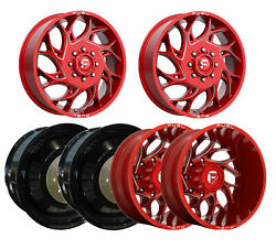 6 Fuel Off-road D742 Runner Candy Red Milled F/r/i Dually Wheels 8x210 20x8.25