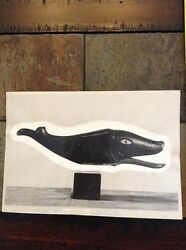 1800's Production Toy Photo Black Painted Fish Or Whale American Antiques Page I