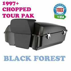 Black Forest Chopped Tour Pack Pak Luggage For 1997-2021 Harley Electra Glide