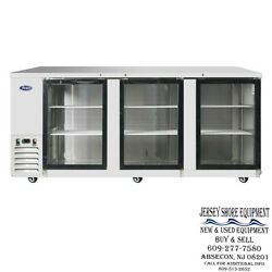 New - Mbb90ggr Atosa 3 Glass Door Bar Coolers Commercial Kitchen Ss Inside Out