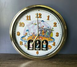Linden Maestro Animated Musical Wall Clock Circus Theme Vintage