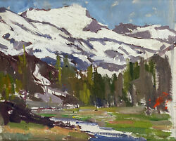George Kennedy Brandriff Us 19th C Oil On Canvas High Sierra From Lake Mary