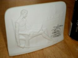 """Lladro Collection, Porcelain Retail Store Display Sign, 5.75"""" Long, Vintage"""