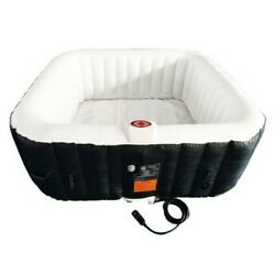Aleko Htisq4bkwh Square Inflatable Hot Tub Spa With Cover4 Person160