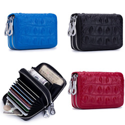 RFID Women Wallet Leather Clutch Wallet Card Phone Holder Simple Coin Wallet $12.65