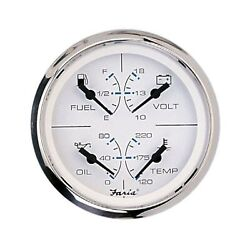 Faria 33851 Chesapeake Stainless Steel Multifunction Fuel Level/oil Psi 80 P...