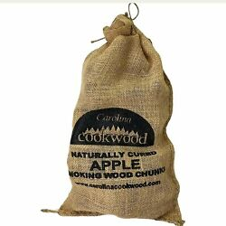 Apple Smoking Wood Chunks Naturally Cured 750 Cubic Inches For Bbq Flavored Gril