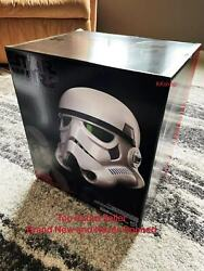 Star Wars The Black Series Rogue One Stormtrooper Electronic Voice Change Helmet