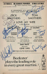 I Love My Wife Play Cast - Show Bill Signed With Co-signers